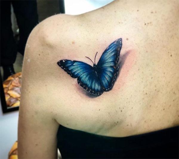 tatuaggi femminili farfalla
