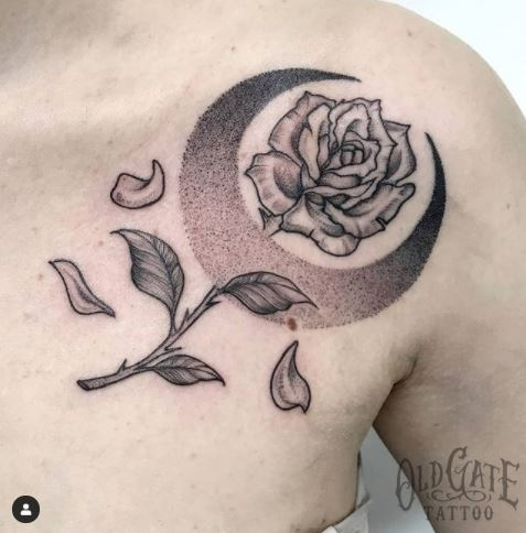 Tatuaggio Floreale bianco e nero