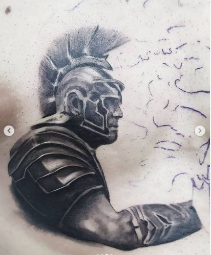 Tatuaggio gladiatore romano